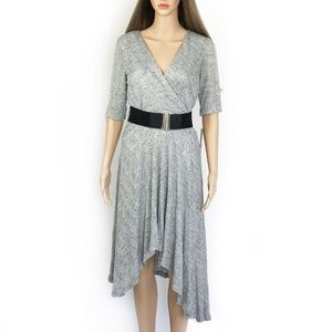 NWT. Sandra Darren Gray High Low Dress